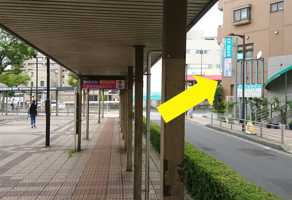 写真:駅前ロータリー